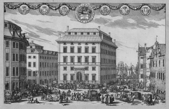 The Riksbank's first office at Järntorget in the Old Town in Stockholm