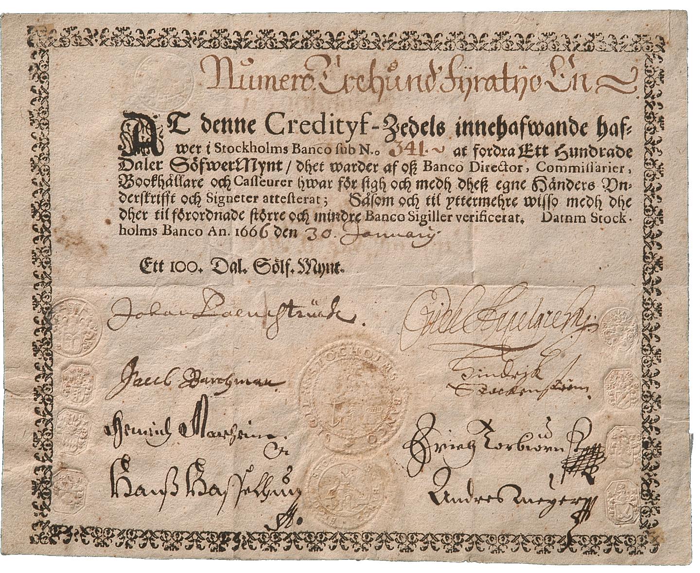 First banknotes in Europe | Sveriges Riksbank