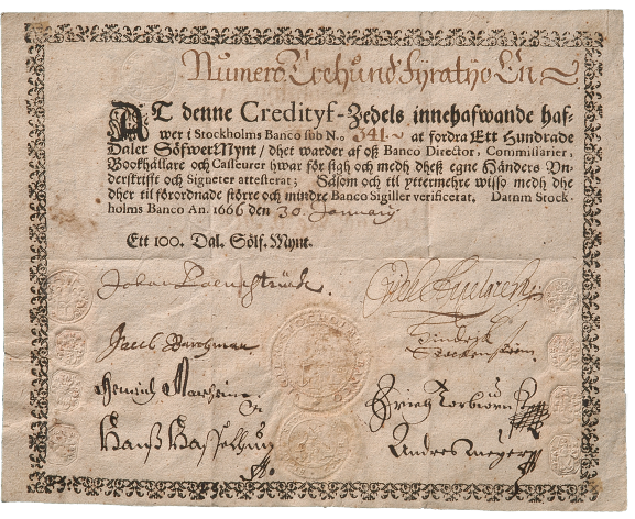 Picture of a Kreditiv bill note