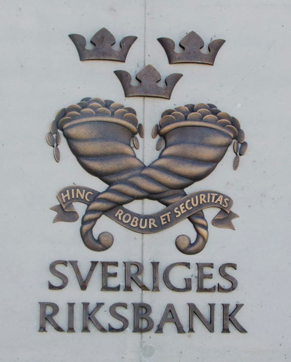 Sign outside the Broby office, Sveriges Riksbank