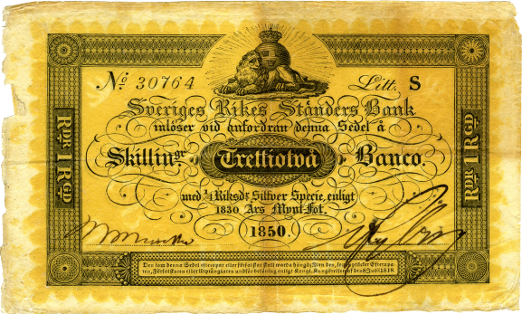 One of the first modern banknotes