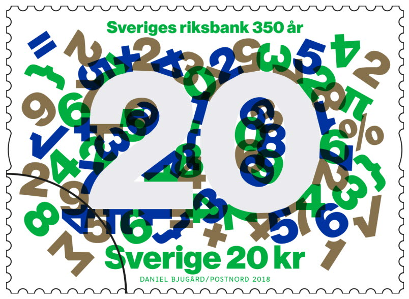 Stamp the Riksbank 350 years, 20 SEK
