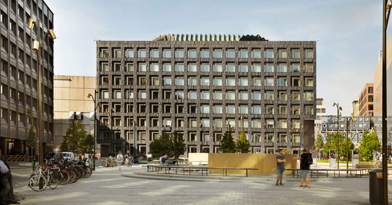 The picture shows the Riksbank's house on Brunkebergtorg in Stockholm.
