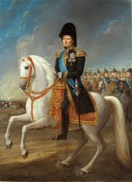 Picture on Karl XIV Johan on horseback