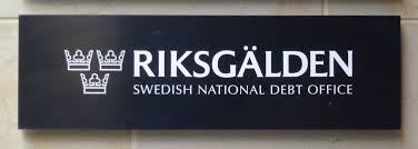 Sign with the Debt Office's logo
